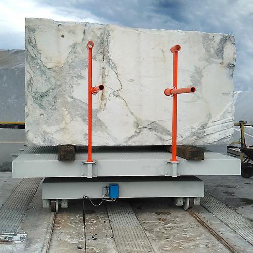 carrello per blocchi marmo